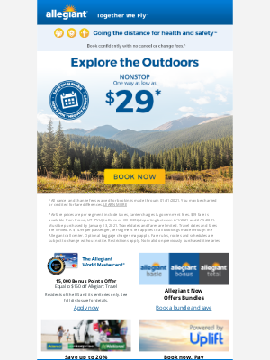 Allegiant Air - Picturesque getaways | One way as low as $29