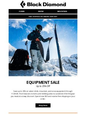Black Diamond Equipment - EQUIPMENT SALE: Up to 25% Off