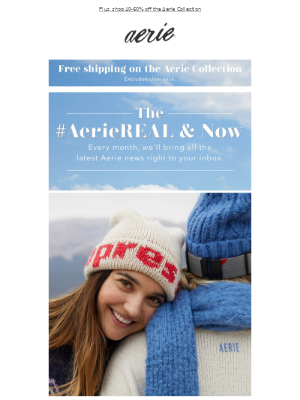 The December edition of the #AerieREAL & Now is here!