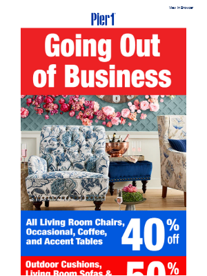 All Living Room Chairs now 40% off!