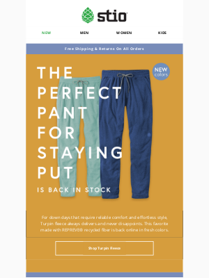 Stio - Your Favorite Fleece Pants Are Back In Stock!