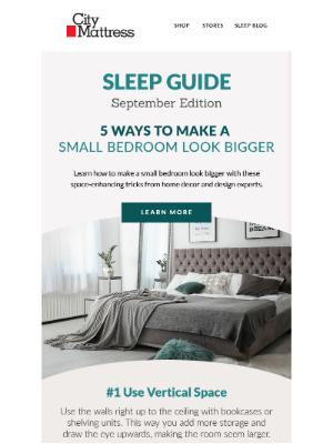 City Mattress - Sleep Guide: 5 Ways to Make Your Bedroom Feel Bigger