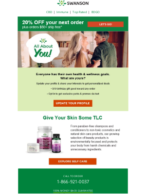 Swanson Health Products - Tell us all about YOU!