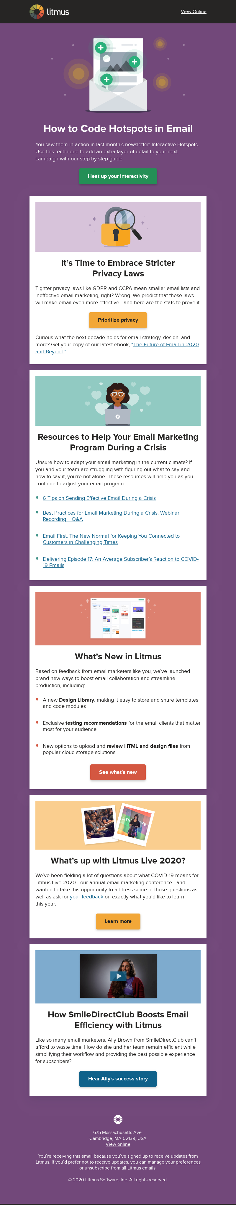 Litmus How to Code Hotspots in Email You saw them in action in last month's