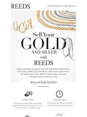 Sell Your Gold & Silver With REEDS 🎇