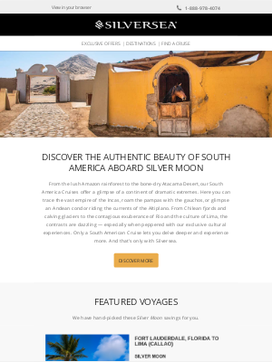 Silversea Cruises - SOUTH AMERICA - The land of extremes