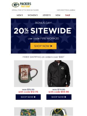 Bonus Day: 20% off Sitewide!