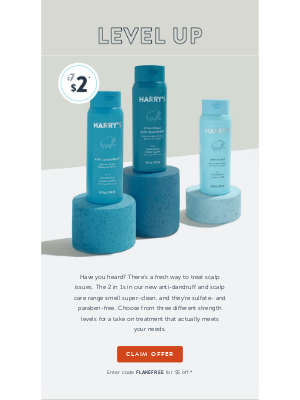 Harry's - Say goodbye to scalp issues—for just $2