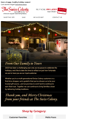The Swiss Colony - Merry Christmas from The Swiss Colony