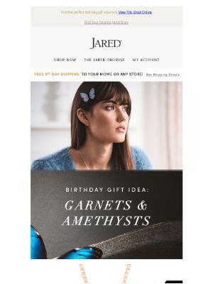 Jared - Birthday gift idea: Garnets and Amethysts