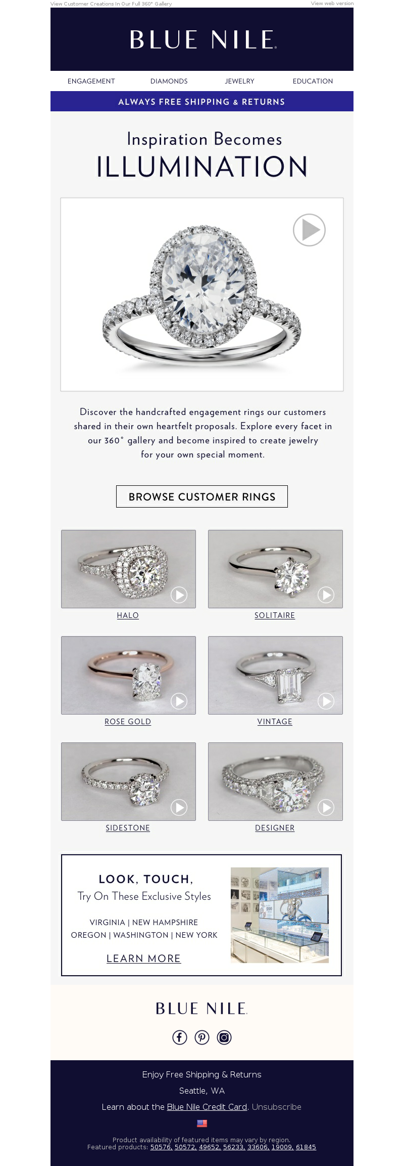 Blue Nile - Real Customer Engagement Rings That Inspire