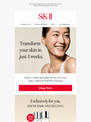 Sk-II - Receive exclusive gifts with your purchase of $200.