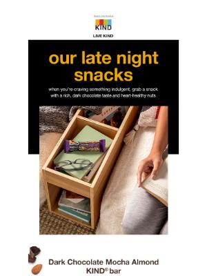 KIND Snacks - Dreaming of dark chocolate?
