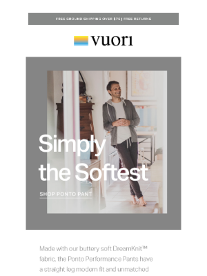 Vuori - Our DreamKnit fabric is simply the softest