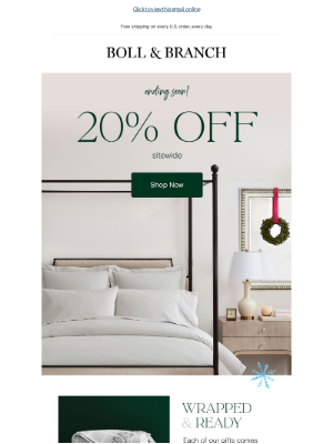 Boll & Branch - All our super-soft sheets. All 20% off