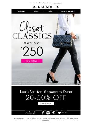 SAVE on Closet Classics • Starting at $250