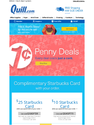 [Double Deal Alert] Starbucks Card Offer + Penny Deals!