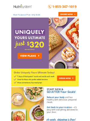 Nutrisystem - Uniquely Yours Ultimate Plan Just $320 - Don't Miss This Deal!