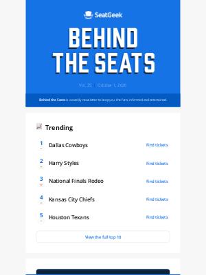 SeatGeek - Behind the Seats, Vol. 25