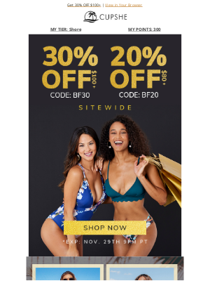 Cupshe - The biggest sale is happening NOW! ★