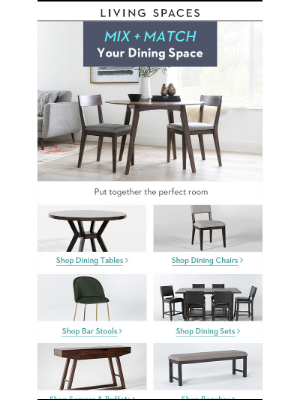Living Spaces - Your Dining Room Menu