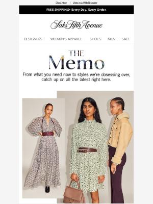 Saks Fifth Avenue - The Memo: Chloé's Pre-Fall 2021 Collection, dreamy swimwear & more