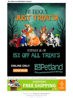 Petland Canada (CA) - 15% Off All Treats!