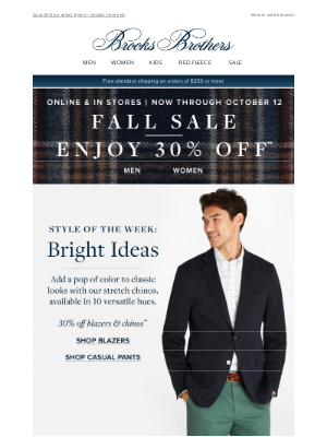 Brooks Brothers (AU) - Style of the Week: Bright Ideas
