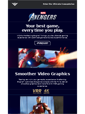 VIZIO - Enter the Ultimate Gaming Sweepstakes
