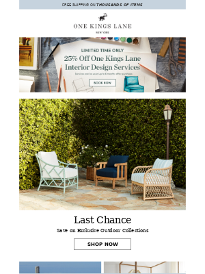One Kings Lane - Still time to save on outdoor furniture!