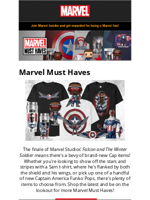 Disney - Must Haves From The Finale Of Marvel Studios' Falcon and The Winter Soldier
