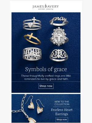 James Avery Jewelry - Favorite faith RINGS