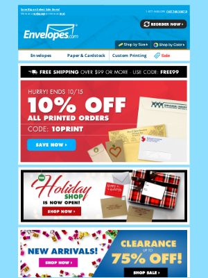 Envelopes.com - 📣 ENDS TODAY: Save 10% on ALL print orders!