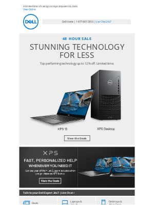 Dell - 48 HOUR SALE | Our most exciting tech at enticing prices