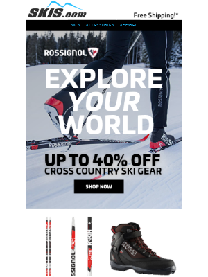 Skis - Rossignol Cross Country Ski Gear || Up to 40% OFF*