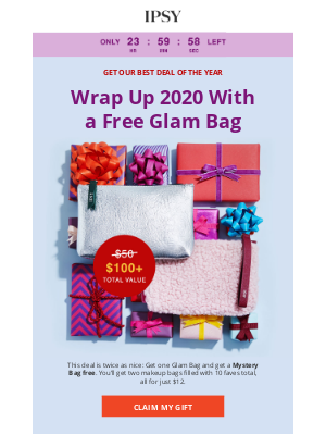 ipsy - IPSY sent you a free Mystery Bag.