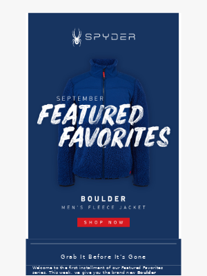 Spyder Active Sports - Our Top Fall Pick For Men!