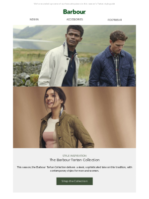 Barbour (UK) - Explore The Tartan Collection   New Styles For The Season