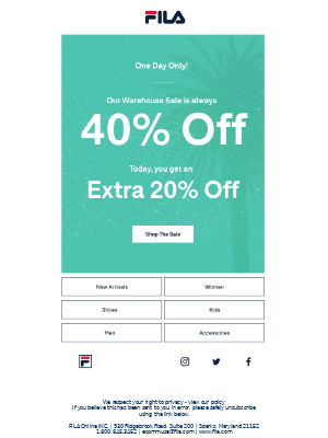 ONE DAY ONLY! Extra 20% Off