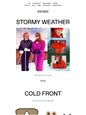 SSENSE - Snow Days: Curl up With This Week's Stories