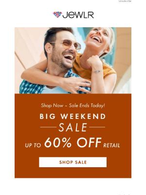 Jewlr - LAST DAY ⏰   Big Weekend Sale Ends Tonight!