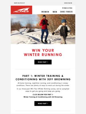 Altra Running - Win Your Winter Running Part 1