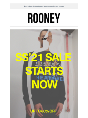 Rooney Shop - SS21 SALE STARTS NOW.