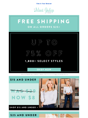 The Mint Julep Boutique - Up to 75% off 1,800+ Styles!
