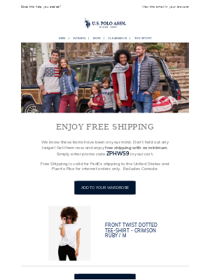 How about free shipping?