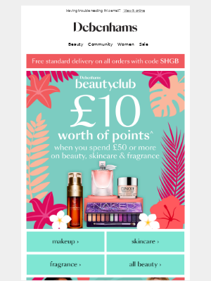 Its back! Get £10 of points when you spend £50 😍