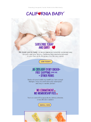 California Baby - Save 10-20% With Our Subscription Service