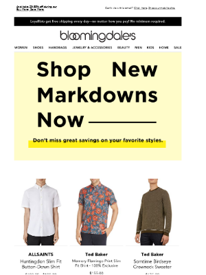 What's new? These markdowns