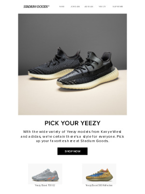 Stadium Goods - Yeezys for all this fall