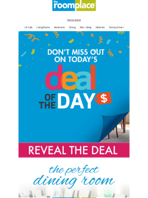 The RoomPlace - You'll hunger for FRIDAY'S Deal of the Day! Found HERE.